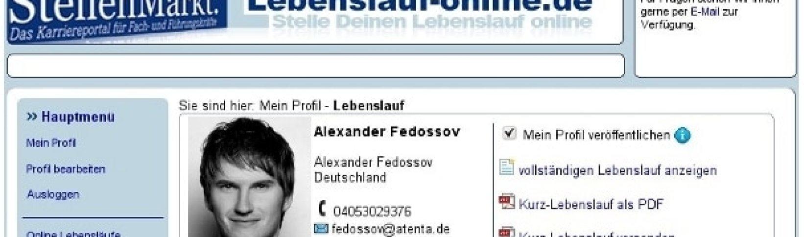 Online-Lebenslauf mit Lebenslauf-Online.de