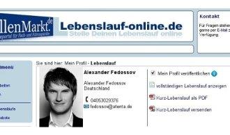 online lebenslauf mit lebenslauf onlinede - Online Lebenslauf