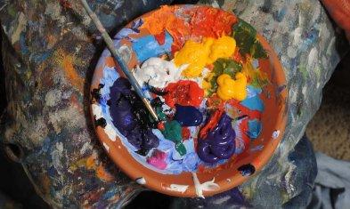 Bunter Mix aus Farben: Symbol Personalmarketing-Mix