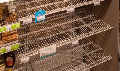 Recruiting Einzelhandel - Leere Supermarktregale