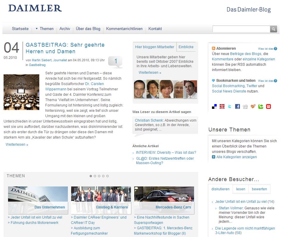 Social Media Employer Branding im Daimler Mitarbeiterblog