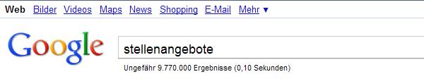 stellenangebote google Google hat keine Stellenangebote?!