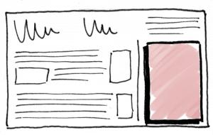 Struktur einer Halfpage-Ad