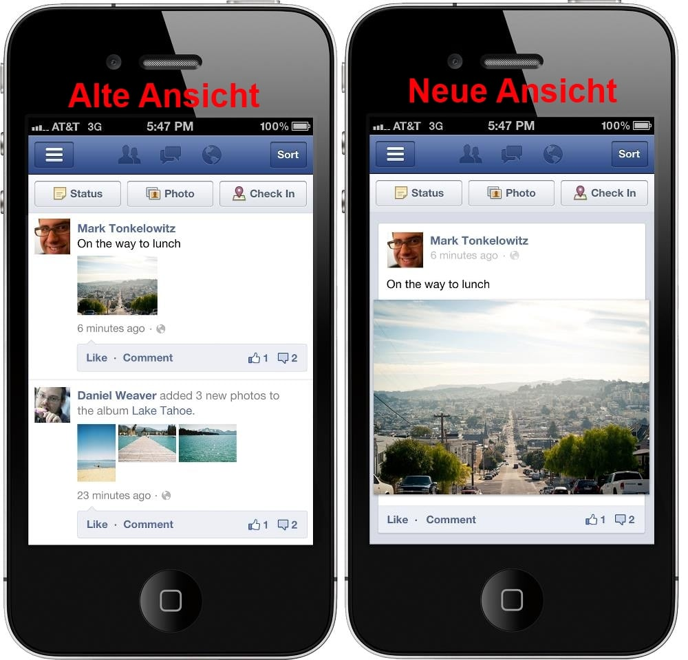 Facebook Alte Ansicht