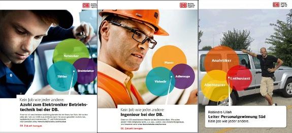 DBPlakateGalerie DB Kampagne mit großem Kaliber: Kein Job wie jeder andere