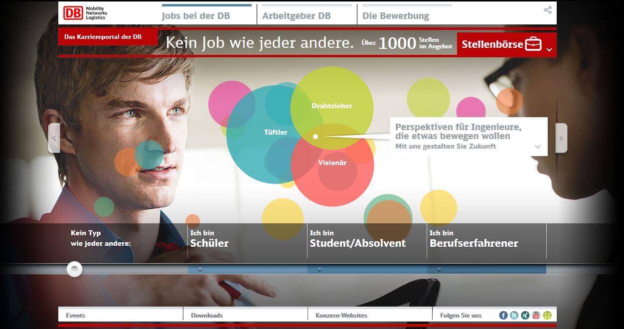 DB Karrierewebsite DB Kampagne mit großem Kaliber: Kein Job wie jeder andere