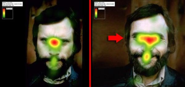 Lächeln wirkt anziehend und lässt die Augen des Users länger auf einem bild verweilen.
