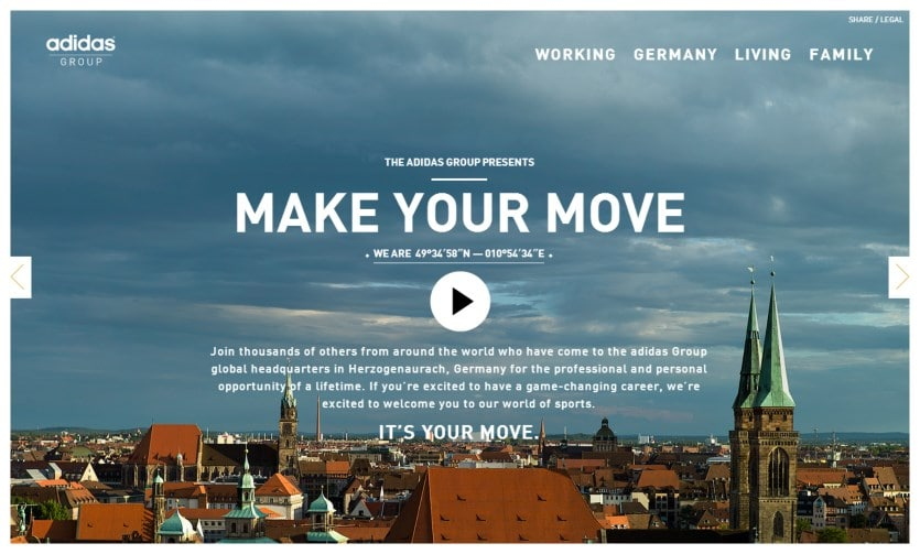 """adidas herzo """"Herzo what?!""""   adidas wirbt mit Microsite für Arbeit und Leben in Herzogenaurach"""