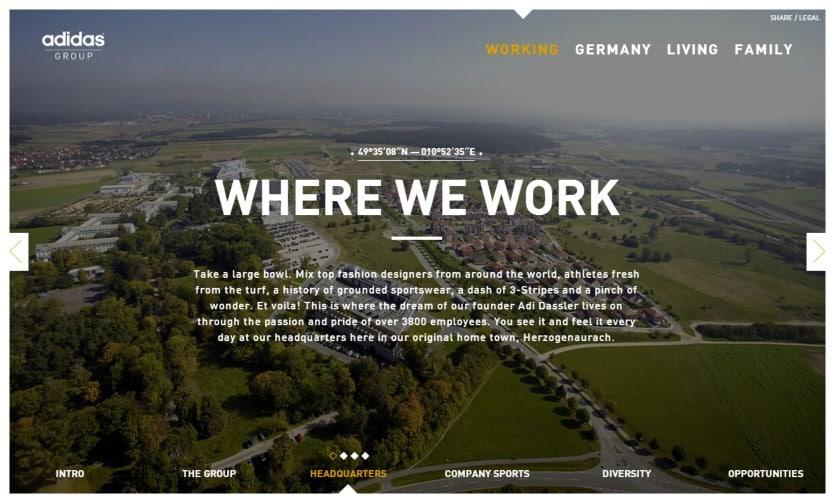 """adidas herzo2 """"Herzo what?!""""   adidas wirbt mit Microsite für Arbeit und Leben in Herzogenaurach"""