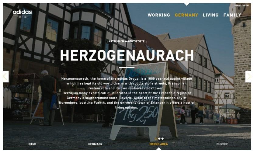 """adidas herzo3 """"Herzo what?!""""   adidas wirbt mit Microsite für Arbeit und Leben in Herzogenaurach"""
