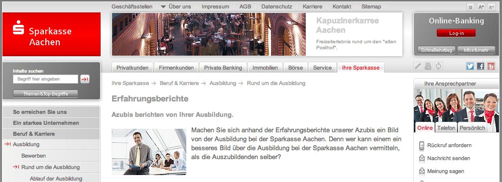 Bildschirmfoto 2013 11 14 um 10.55.19 Azubiblogs im Check: Banken