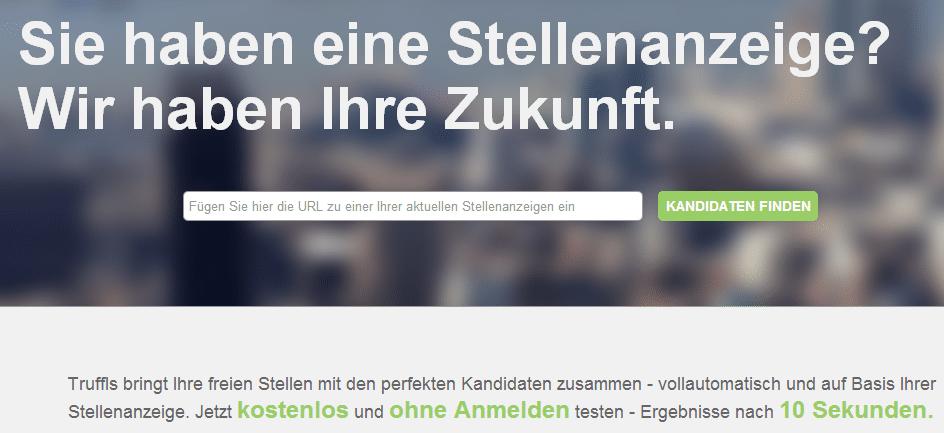 truffls unternehmen Semantische Jobsuche mit Truffls.de