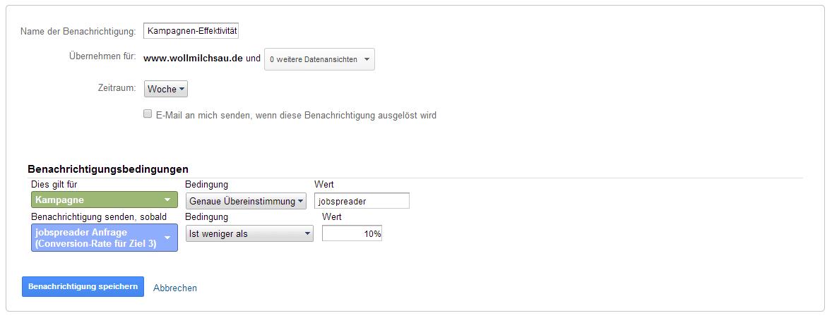 Erstellt Eure eigenen benutzerdefinierten Benachrichtigungen in Google Analytics