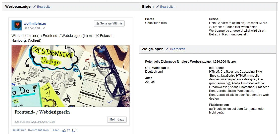 facebook ad11 Case: Personalmarketing Kampagne auf Facebook