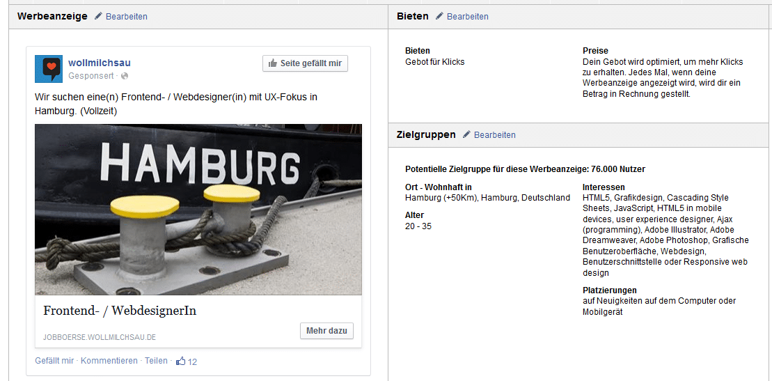 facebook ad21 Case: Personalmarketing Kampagne auf Facebook