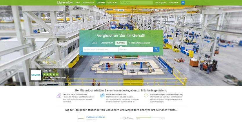 gehaltsvergleich startseite 835 Bringt Glassdoor Gehaltstransparenz nach Deutschland?