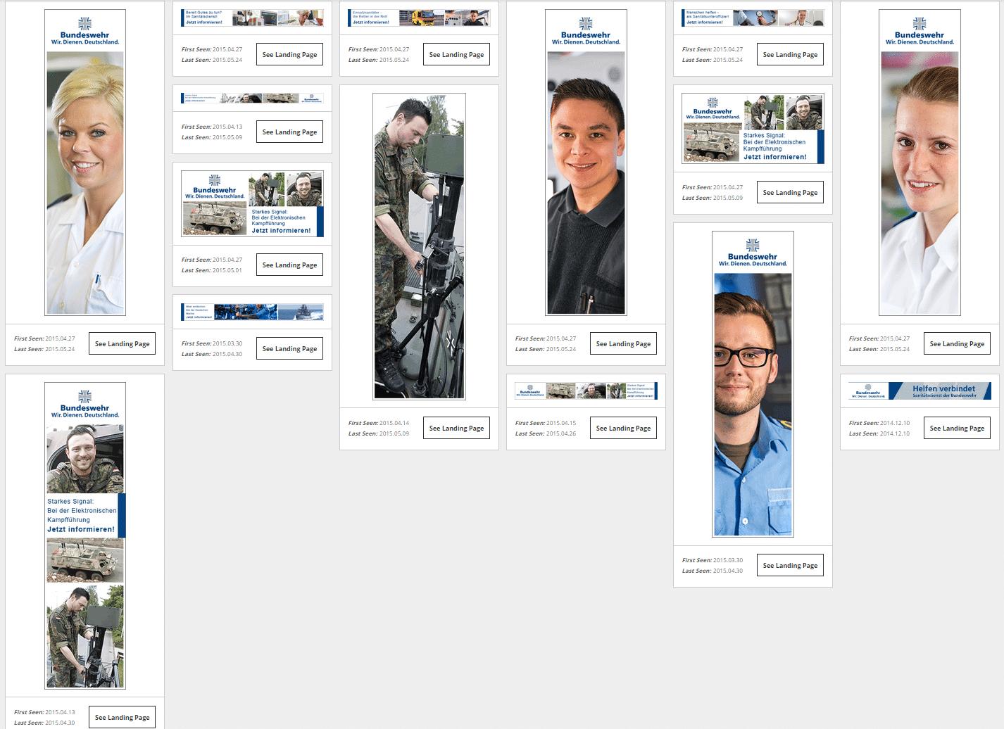 Die Bundeswehr setzt verstärkt auf Display-Ads.