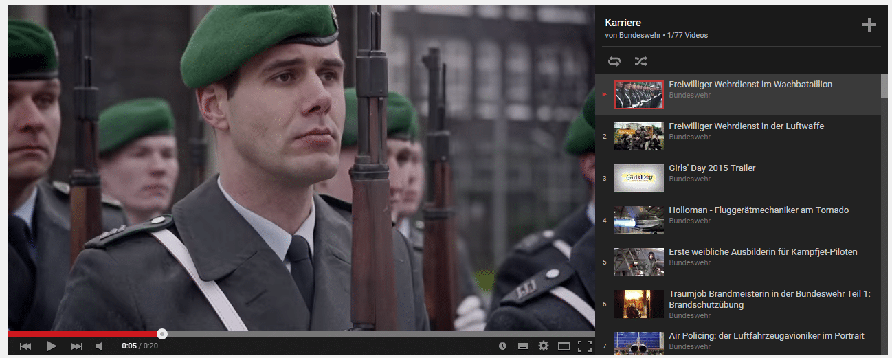 Video-Kanäle spielen für die Bundeswehr im Recruiting eine wichtige Rolle.
