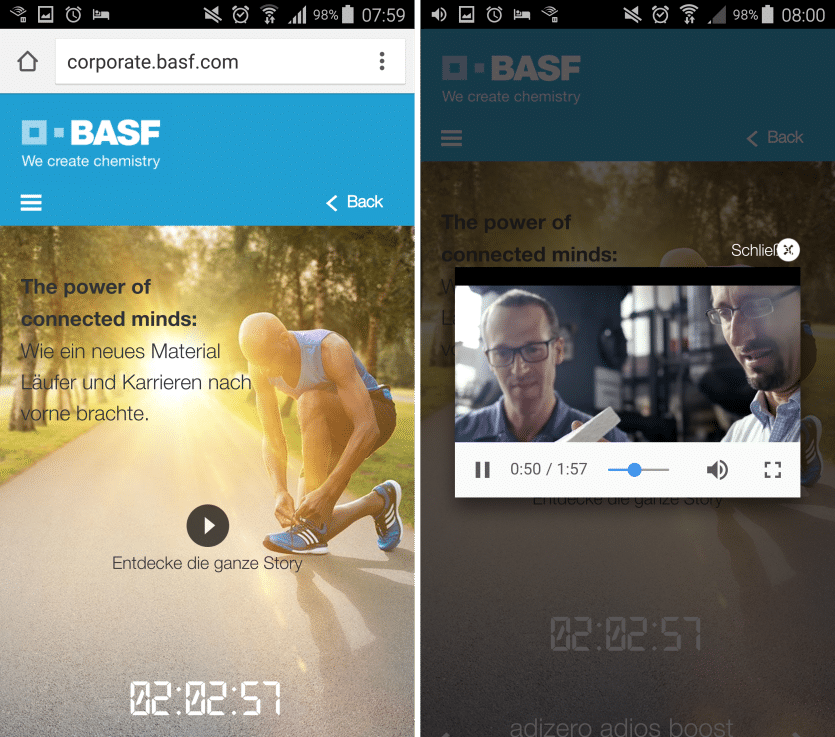 BASF Mobile Recruiting Ad - Kampagnen-Micropage