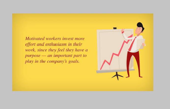 Motivierte Arbeitnehmer investieren mehr Aufwand und Enthusiasmus in ihre Arbeit.