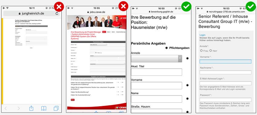 Mobile Recruiting - DOs & DON'Ts im Bewerbungsformular