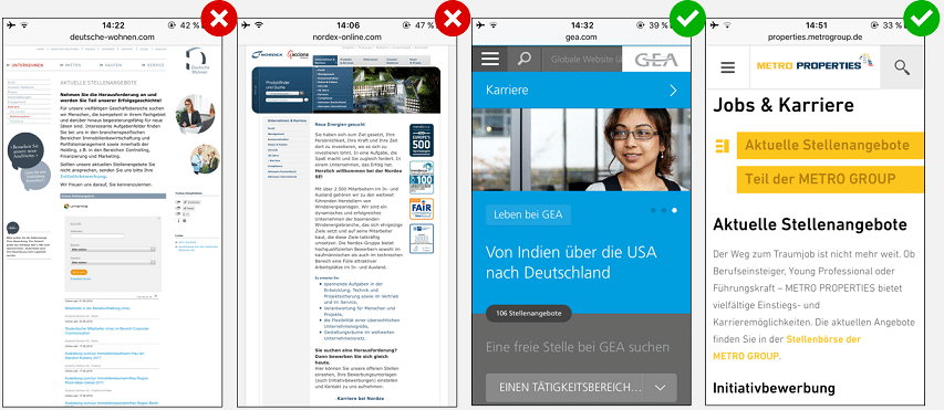 Mobile Recruiting - DOs & DON'Ts auf der Karriereseite