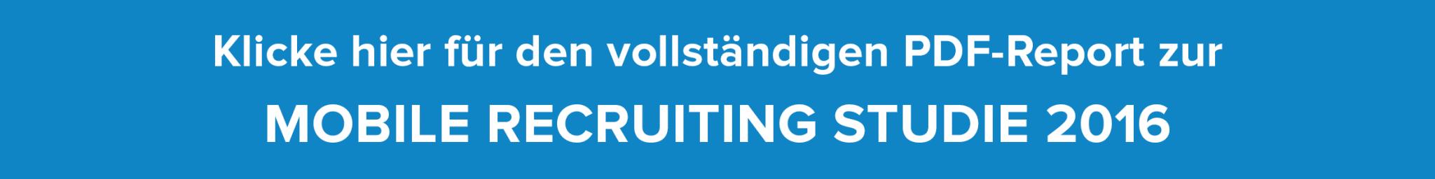 Jetzt PDF-Report zur Mobile Recruiting Studie runterladen!