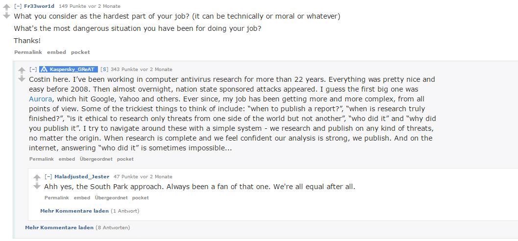 In den Reddit AMAs beantworten User unter anderem Fragen zu ihrem Job