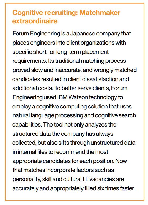 cognitive recruiting best practice Cognitive HR: Wie IBM sich die neue HR Welt vorstellt