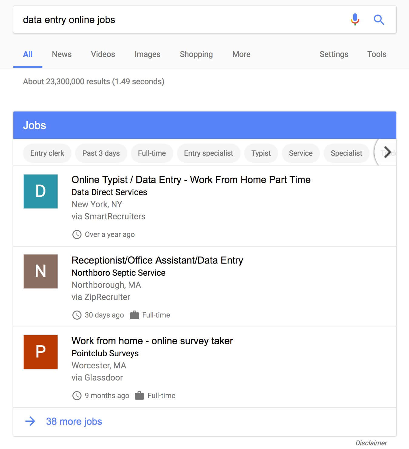 google jobsuchmaschhine suchegebnisse
