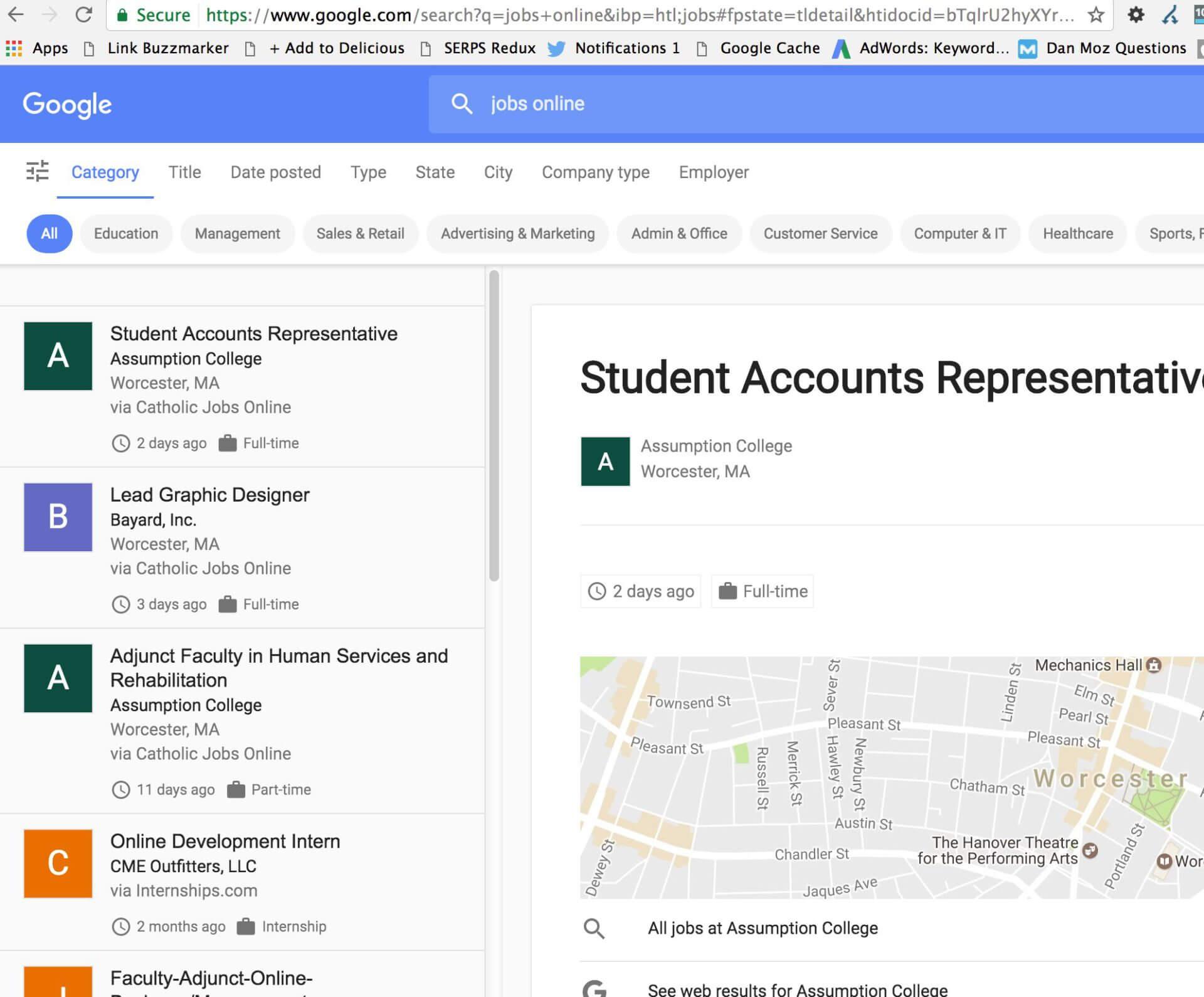 google jobsuchmaschine job details