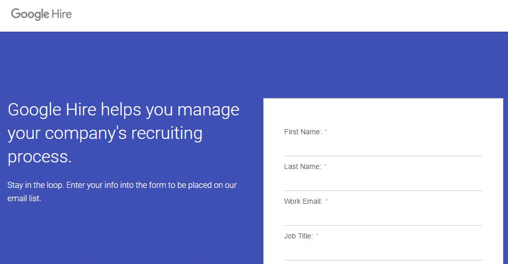 google hire bewerbermanagementsystem