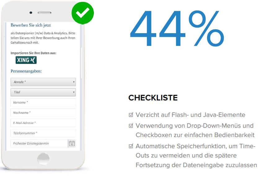 Die Online Recruiting Studie beschäftigt sich auch dieses Jahr wieder mit der Mobiloptimierung der Karriereseiten der DAX-Unternehmen.