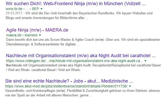 Gute Jobtitel - schlechte Jobtitel