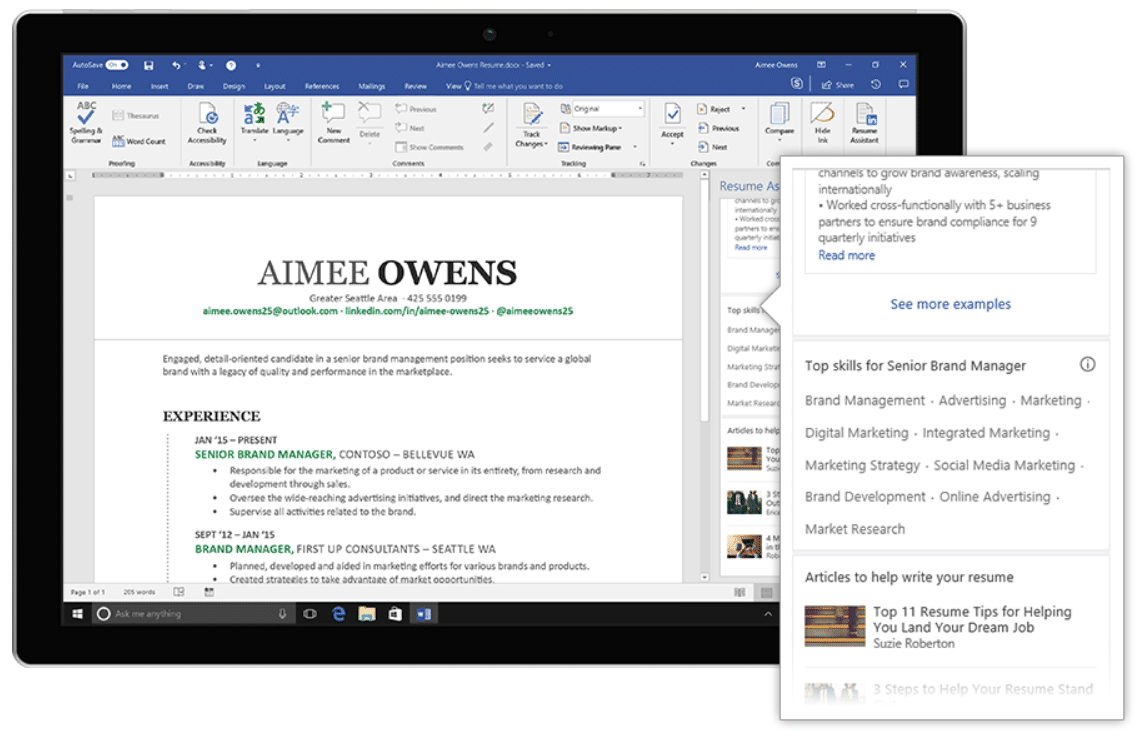 Wird Microsoft Word zu einer intelligenten Jobbörse?