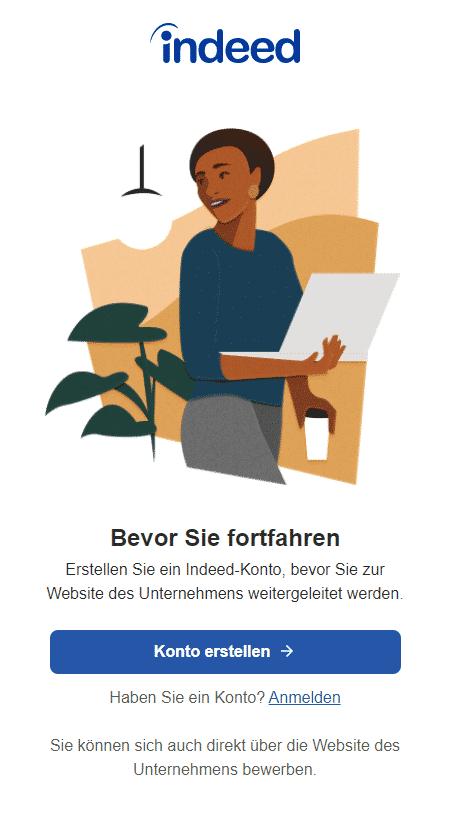 indeed stellenanzeige registrieungszwang