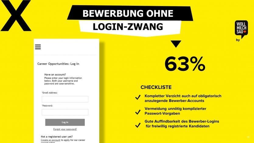 Mobiloptimierung Recruiting Login-Zwang Bewerbung