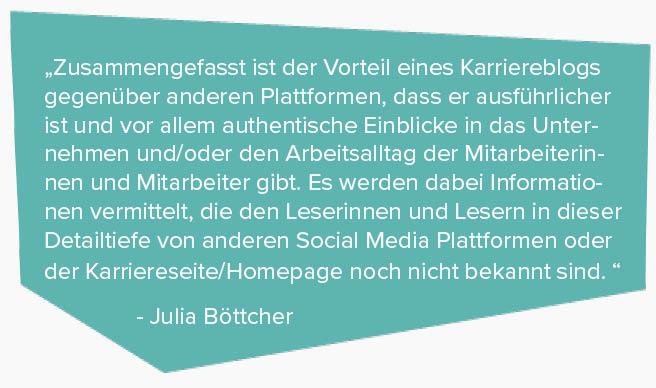 Karriereblog Technikerkrankenkasse- Zitat Julia Böttcher