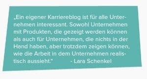 Karriereblog Technikerkrankenkasse - Zitat Lara